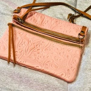 Peach Vera Pelle crossbody bag